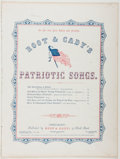 Books:Music & Sheet Music, [Sheet Music]. George F. Root. God Bless Our Brave YoungVolunteers. Root & Cady, 1861. Quarto. Good....