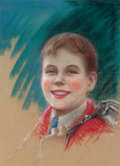 Pulp, Pulp-like, Digests, and Paperback Art, CHARLES GATES SHELDON (American, 1889-1960). Portrait of aSchool Boy, Parents magazine cover. Pastel on board. 16 x 11...