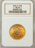 Liberty Eagles, 1906-D $10 MS64 NGC....