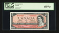 Canadian Currency: , BC-38b $21954 with Ascending Ladder Serial Number 1234567. ...
