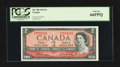 Canadian Currency: , BC-38b $2 1954 with Descending Ladder Serial Number 7654321. ...