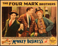 "Movie Posters:Comedy, Monkey Business (Paramount, 1931). Lobby Card (11"" X 14"").. ..."