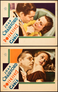 """Possessed (MGM, 1931). Lobby Cards (2) (11"""" X 14""""). ... (Total: 2 Items)"""