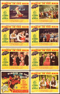 "Movie Posters:Musical, Singin' in the Rain (MGM, 1952). Lobby Card Set of 8 (11"" X 14"").. ... (Total: 8 Items)"