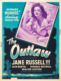 "Movie Posters:Western, The Outlaw (United Artists, 1946). Poster (30"" X 40"").. ..."