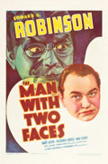 "Movie Posters:Crime, The Man with Two Faces (First National, 1934). One Sheet (27"" X41"").. ..."