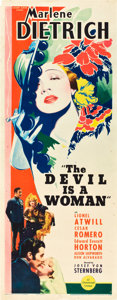 "Movie Posters:Romance, The Devil is a Woman (Paramount, 1935). Insert (14"" X 36"").. ..."
