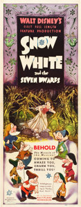 """Movie Posters:Animation, Snow White and the Seven Dwarfs (RKO, 1937). Insert (14"""" X 36"""").. ..."""