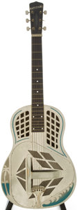 Musical Instruments:Acoustic Guitars, 1936 National Style 97 Chrome Resonator Guitar, Serial # A5849....