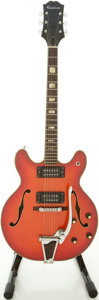 Musical Instruments:Electric Guitars, 1970's Epiphone EA-260 5102TE Cherry Semi-Hollow Body ElectricGuitar, #12202....
