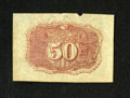 Fractional Currency:Second Issue, Fr. 1314SP 50c Second Issue Narrow Margin Back Specimen New. There is a notch out of the top edge plus the back shows some a...