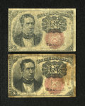 Fractional Currency:Fifth Issue, Fr. 1266 10c Fifth Issue. Two Examples. Very Good. One example has some staining.. ... (Total: 2 notes)