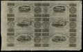 Canadian Currency: , Montreal, LC- Champlain & St. Lawrence Rail Road Company Bank 71/2d-15d-2s.6d-7 1/2d-15d-2s.6d Aug. 1, 1837 Uncut Sheet. Th...