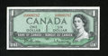 Canadian Currency: , Canada.. $1 1954 Modified Portrait Charlton BC-37b. This stronglyembossed note carries low serial number 0000787. Choice ...