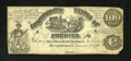 Confederate Notes:1861 Issues, CT13/56-1 $100 1861. This deceptive lithographed counterfeit hasplate letter AK, blank serial numbers, and signatures. It i...