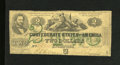 Confederate Notes:1862 Issues, T43 $2 1862. This Second Series $2 has an approximate quarter inchedge tear. Very Good....