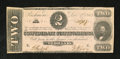 Confederate Notes:1862 Issues, T54 $2 1862. This is an attractive note with just lightcirculation. Extremely Fine-About Uncirculated....
