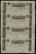 Obsoletes By State:Ohio, Cincinnati, OH- Unknown Issuer $5-$3-$2-$1 18__ Uncut Sheet. Thesepost notes can be dated in the 1817-25 range due to the f...