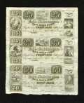 Obsoletes By State:Ohio, Toledo, OH- Erie and Kalamazoo Rail-Road Compy. 25¢-25¢-50¢ 18__Uncut Sheet. This is a nicely preserved sheet. As a conditi...
