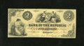 Obsoletes By State:Rhode Island, Providence, RI- Bank of the Republic $2 Aug. 19, 1855. A bank that carried a grandiose name, but only lasted three years in ...
