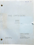 "Movie/TV Memorabilia:Memorabilia, Roy Thinnes ""The Invaders"" Pilot Script with Handwritten Notes. TVproducer Quinn Martin masterfully drew upon two sources -...(Total: 1 Item)"