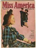 Golden Age (1938-1955):Romance, Miss America Magazine V4#6 (Timely, 1946) Condition: VG/FN....