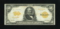 Large Size:Gold Certificates, Fr. 1199 $50 1913 Gold Certificate Very Fine. Sound edges encirclethis $50 Gold. This Friedberg number is not nearly as oft...