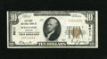 National Bank Notes:Missouri, Wellston, MO - $10 1929 Ty. 1 The First NB Ch. # 8011. Originalsurfaces and embossing remain on this lightly handled, b...