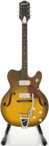 Musical Instruments:Electric Guitars, 1960's Harmony H74 Sunburst Semi-Hollow Body Electric Guitar....