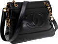 Luxury Accessories:Bags, Heritage Vintage: Chanel Black Lambskin Leather Tote Bag . ...