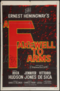 "Movie Posters:War, A Farewell to Arms & Other Lot (20th Century Fox, 1958).Advance One Sheet (27"" X 41"") & Three Sheet (41"" X 80""). War..... (Total: 2 Items)"