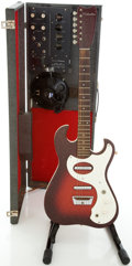 Musical Instruments:Electric Guitars, 1960's Silvertone 1457 Amp-in-Case Electric Guitar Combo....