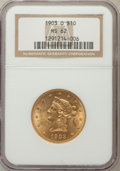 Liberty Eagles: , 1903-O $10 MS62 NGC. NGC Census: (291/74). PCGS Population(328/113). Mintage: 112,771. Numismedia Wsl. Price for problem f...