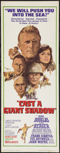 "Movie Posters:War, Cast a Giant Shadow (United Artists, 1966). Insert (14"" X 36"").War.. ..."