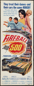 """Movie Posters:Action, Fireball 500 (American International, 1966). Insert (14"""" X 36""""). Action.. ..."""