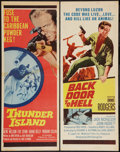 """Movie Posters:War, Back Door to Hell & Other Lot (20th Century Fox, 1964). Inserts(2) (14"""" X 36""""). War.. ... (Total: 2 Items)"""
