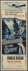 "Movie Posters:War, Hellcats of the Navy (Columbia, 1957). Insert (14"" X 36""). War....."