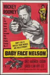"""Baby Face Nelson (United Artists, 1957). One Sheet (27"""" X 41"""") & Lobby Cards (7) (11"""" X 14"""")..."""
