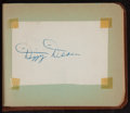 Baseball Collectibles:Others, 1940's and 1950's Baseball Stars and Notables Signed Autograph Book- 45+ Signatures....