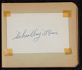 Baseball Collectibles:Others, 1940's and 1950's Baseball Stars and Notables Signed Autograph Book- 50+ Signatures....
