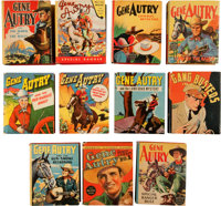 Big Little Book Gene Autry Group (Whitman, 1938-49) Condition: Average VF/NM.... (Total: 11 Items)