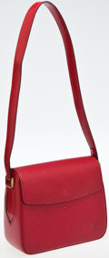 Luxury Accessories:Bags, Louis Vuitton Red Epi Byushi Bag. ...