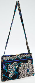 Luxury Accessories:Bags, Emilio Pucci Blue and White Silk Bag. ...
