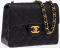 Luxury Accessories:Bags, Chanel Black Quilted Lambskin Leather Mini Single Flap Bag withGold Hardware. ...