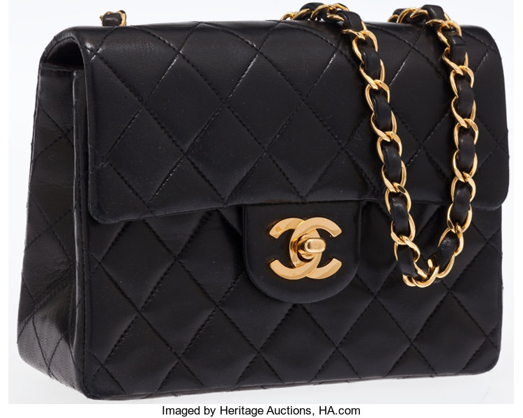 9f6a1a364210d9 ... Luxury Accessories:Bags, Chanel Black Quilted Lambskin Leather Mini  Single Flap Bag withGold Hardware ...