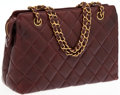 Luxury Accessories:Bags, Chanel Brown Quilted Lambskin Leather Bag with Gold Chain. ...