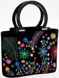 Luxury Accessories:Bags, Salvatore Ferragamo Black Velvet and Sequin Tote. ...