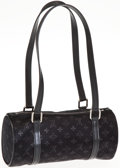 Luxury Accessories:Bags, Louis Vuitton Noir Monogram Canvas Little Papillon Bag. ...