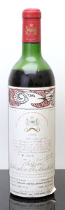 Red Bordeaux, Chateau Mouton Rothschild 1966 . Pauillac. ms, bsl. Bottle(1). ... (Total: 1 Btl. )