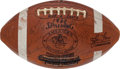 Football Collectibles:Balls, 1960 Oakland Raiders First Game Used Football in Franchise History....